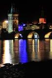 Night Prague Stock Photography