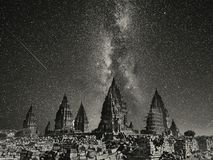Night in Prambanan Temple. The Collection of The Beauty Around Java and Bali Island. Holiday Vibes Royalty Free Stock Photography
