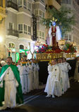 Night procession during Holy Week Stock Image