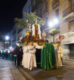 Night procession during Holy Week Stock Photography