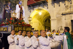 Night procession during Holy Week in Spain Stock Photos