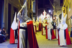 Night procession during  Semana Sant Stock Photo