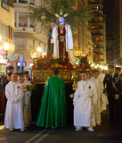 Night procession during Semana Santa Stock Photos