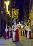 Night procession during Semana Santa in Murcia Stock Image