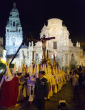 Night procession during Semana Santa in Murcia Stock Photography