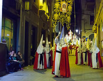 Night procession during Semana Santa Royalty Free Stock Images