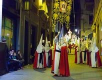 Night procession during Semana Santa Royalty Free Stock Images