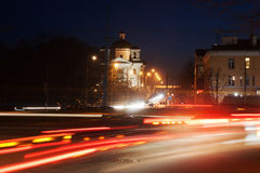 Night provincial town Royalty Free Stock Photography