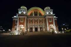 Night Public hall in Osaka Royalty Free Stock Photography