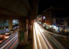 Night pulse of Bangkok. Royalty Free Stock Photography