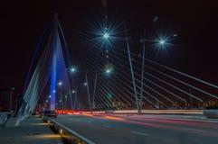 Night Putrajaya. Suspension Bridge taken at Putrajaya, Malaysia Royalty Free Stock Photo