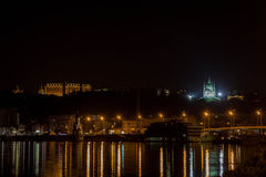 Night quay in Kiev Royalty Free Stock Photography