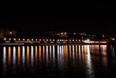 Night quay Stock Image