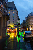Night rain in Paris. Stock Photo