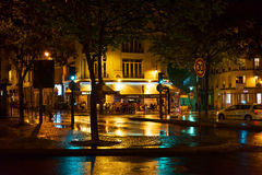 Night rain in Paris. Stock Image