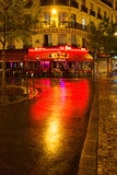 Night rain in Paris. Royalty Free Stock Images