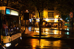 Night rain in Paris. Royalty Free Stock Photo