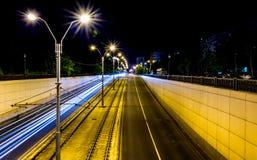 night rain snow traffic Στοκ Εικόνες