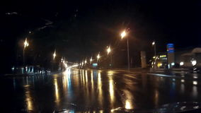 Night Rainy Mysterious Mystical Road stock footage