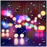 Night rainy street Stock Photo