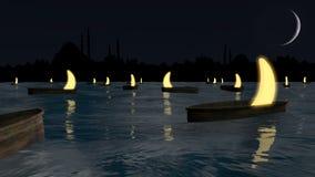Night Ramadan scene Royalty Free Stock Image