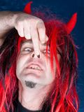 Night red hair davil Stock Images