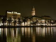 Night reflection at Split Royalty Free Stock Photography