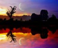 Night reflections Stock Photo