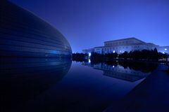 Night reflections in Lake, Beijing, China Stock Photography