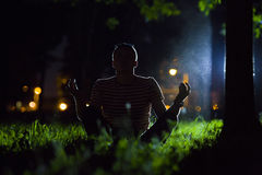 Night relaxation Stock Images