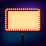 Night retro sign with lights Stock Photos