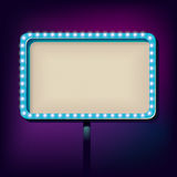 Night retro sign with lights Royalty Free Stock Images