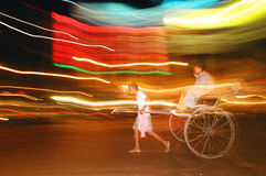 Night rickshaw, India Royalty Free Stock Image