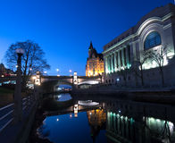 Night Rideau Canal Ottawa, Ontario, Canada Stock Photos