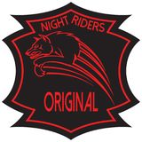 Night Riders Original. Vector project team of night riders wolf jumping Royalty Free Stock Photo