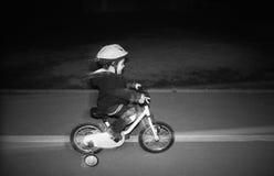 Night riding bike Stock Photo