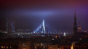 Night Riga Royalty Free Stock Images