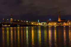 Night in Riga, Latvia Stock Image