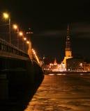 Night Riga, Latvia Royalty Free Stock Image