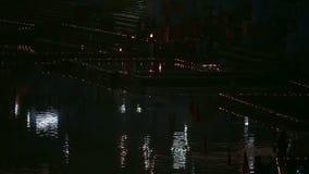 Night ritual stock footage