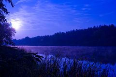 Night on river Stock Photo