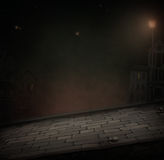Night Road. Background or an illustration for Halloween. Computer graphics Royalty Free Stock Image