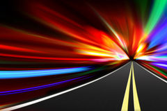 Night road. Abstract night acceleration speed motion stock photos