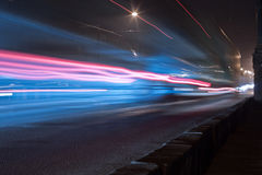 Night road Royalty Free Stock Images