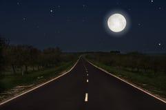Night road Stock Photo