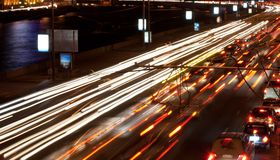 Night road Royalty Free Stock Photography