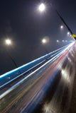 night road Στοκ Εικόνες