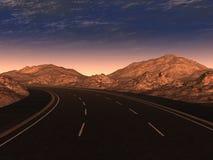 Night road Royalty Free Stock Image