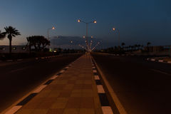 Night road in Africa Royalty Free Stock Photos