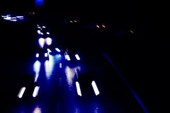 Night road in blue Stock Photos